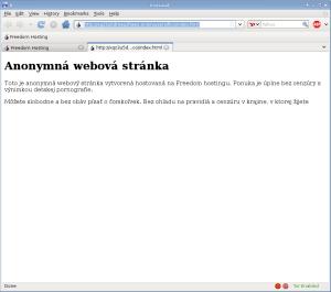 Freedom Hosting - anonymná webová stránka