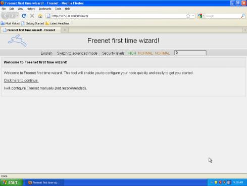 Poinštalačné nastavenia Freenet