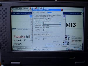 mos wireless book Windows CE - connected to WPA secured Wifi