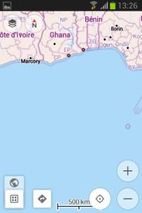 OsmAnd zobrazenie mapy